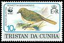 Cl: Gough Island Finch (Rowettia goughensis)(Endemic or near-endemic)  SG 519 (1991)