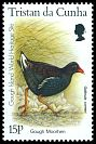 Cl: Tristan Moorhen (Gallinula nesiotis)(Endemic or near-endemic)  SG 602 (1996)