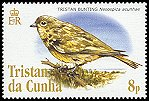 Cl: Nightingale Finch (Nesospiza acunhae)(Endemic or near-endemic)  SG 836 (2005)  [3/56]