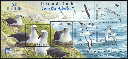 Cl: Yellow-nosed Albatross (Thalassarche chlororhynchos)(Repeat for this country)  SG 774 (2003)  [5/50]