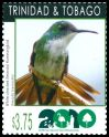 Cl: White-chested Emerald (Amazilia brevirostris)(Repeat for this country)  SG 1158f (2010)  [6/43]