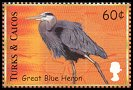 Cl: Great Blue Heron (Ardea herodias)(Repeat for this country)  SG 1582 (2000)