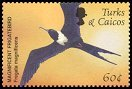 Cl: Magnificent Frigatebird (Fregata magnificens)(Repeat for this country)  SG 1744 (2002)