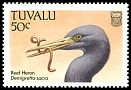 Cl: Pacific Reef-Heron (Egretta sacra)(Repeat for this country)  SG 511 (1988)