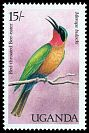 Cl: Red-throated Bee-eater (Merops bulocki) SG 589 (1987) 30
