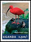 Cl: Scarlet Ibis (Eudocimus ruber)(Out of range) (I do not have this stamp)  new (2014)