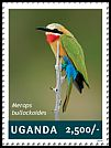 Cl: White-fronted Bee-eater (Merops bullockoides)(I do not have this stamp)  new (2014)