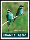 Cl: European Bee-eater (Merops apiaster)(I do not have this stamp)  new (2014)