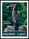 Cl: Southern Ground-Hornbill (Bucorvus leadbeateri)(Repeat for this country) (I do not have this stamp)  new (2014)