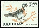 Cl: Rufous-collared Sparrow (Zonotrichia capensis) <<Chingolo>>  SG 1208 (1962) 450