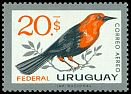 Cl: Scarlet-headed Blackbird (Amblyramphus holosericeus) <<Federal>>  SG 1219 (1962) 2200