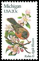 Cl: American Robin (Turdus migratorius)(Endemic or near-endemic)  SG 1951 (1982) 90