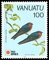 Cl: Pacific Swallow (Hirundo tahitica) SG 581 (1991) 110