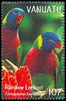 Cl: Rainbow Lorikeet (Trichoglossus haematodus)(Repeat for this country)  SG 807 (1999) 160