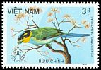 Cl: Long-tailed Broadbill (Psarisomus dalhousiae) SG 966 (1986) 5