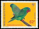 Cl: Blue-crowned Lorikeet (Vini australis) <<Perruches de Futuna>>  SG 651 (1994) 250