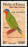 Cl: Blue-crowned Lorikeet (Vini australis) <<Hega>> (Endemic or near-endemic)  SG 791 (2001) 375