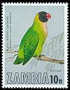Cl: Black-cheeked Lovebird (Agapornis nigrigenis) SG 264 (1977) 55
