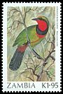 Cl: Four-coloured Bushshrike (Telophorus viridis) SG 498 (1987) 225