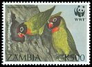 Cl: Black-cheeked Lovebird (Agapornis nigrigenis)(Endemic or near-endemic)  SG 756 (1996) 50