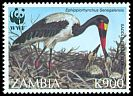 Cl: Saddle-billed Stork (Ephippiorhynchus senegalensis) SG 757 (1996) 90