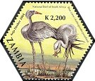 Cl: Blue Crane (Grus paradisea)(Out of range)  SG 934h (2004)  [3/55]