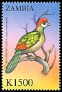 Cl: Red-crested Turaco (Tauraco erythrolophus)(Out of range) (not catalogued)  (2000)