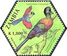 Cl: Purple-crested Turaco (Tauraco porphyreolophus)(Repeat for this country)  SG 934g (2004)  [3/55]