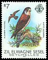 Cl: Seychelles Kestrel (Falco araea)(Out of range)  SG 66 (1983) 125
