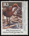 Cl: White-throated Rail (Dryolimnas cuvieri)(Endemic or near-endemic)  SG 246 (1992) 425