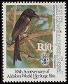 Cl: Aldabra Drongo (Dicrurus aldabranus)(Endemic or near-endemic)  SG 248 (1992) 850