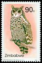 Cl: Spotted Eagle-Owl (Bubo africanus) SG 852 (1993)