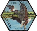 Cl: African Fish-Eagle (Haliaeetus vocifer)(Repeat for this country)  SG 1143a (2004)  [3/55]
